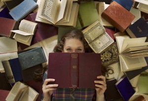 surrounded by books2