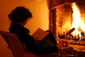 Reading by the fire1